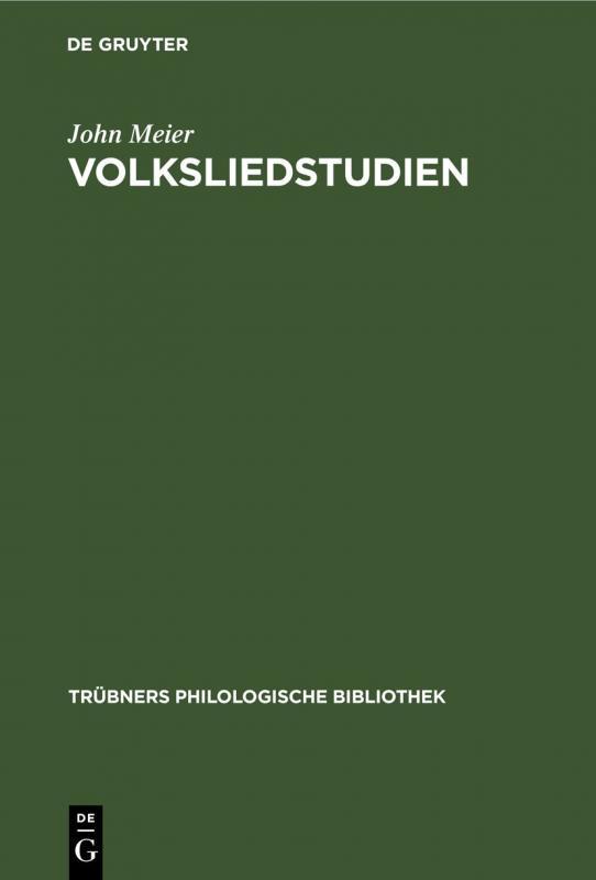 Cover-Bild Volksliedstudien