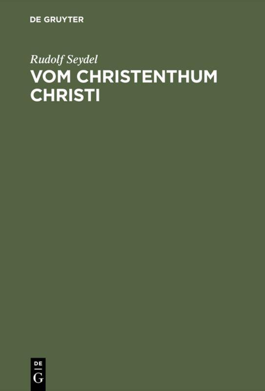 Cover-Bild Vom Christenthum Christi