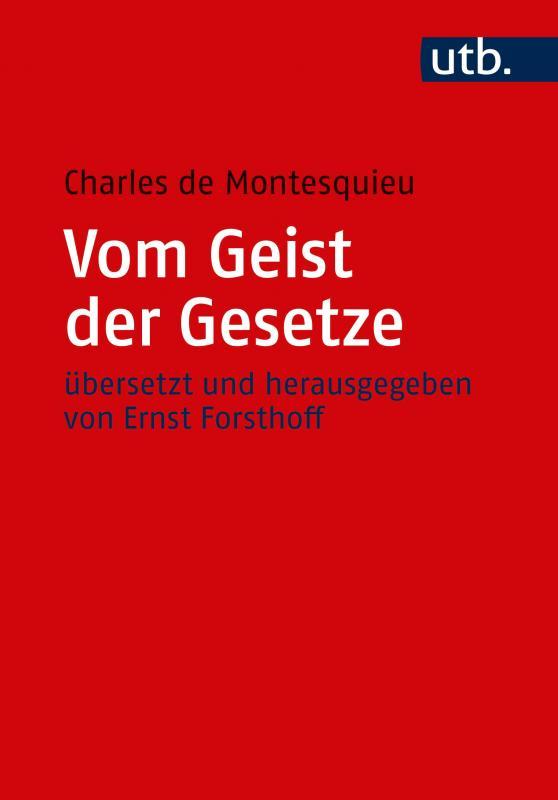 Cover-Bild Vom Geist der Gesetze