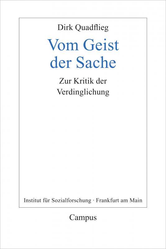 Cover-Bild Vom Geist der Sache