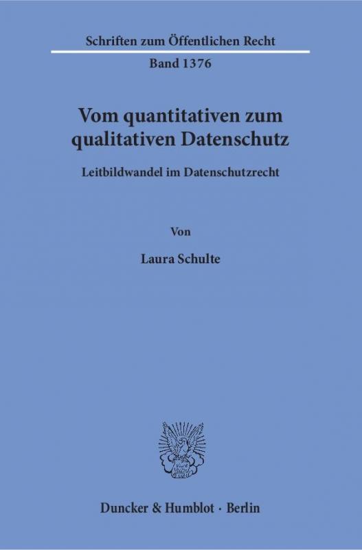 Cover-Bild Vom quantitativen zum qualitativen Datenschutz.