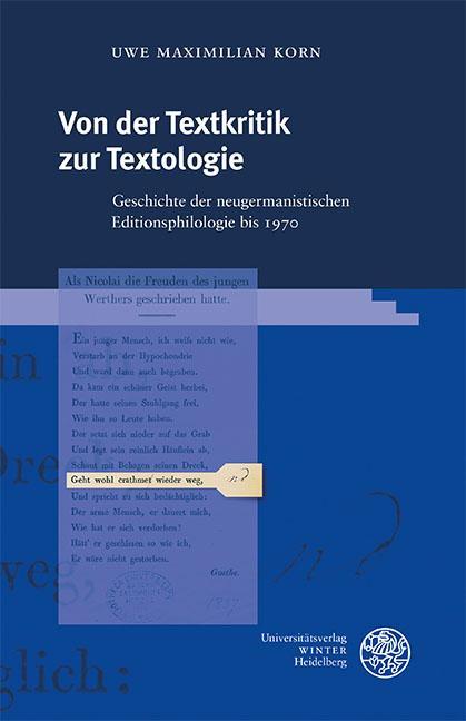 Cover-Bild Von der Textkritik zur Textologie