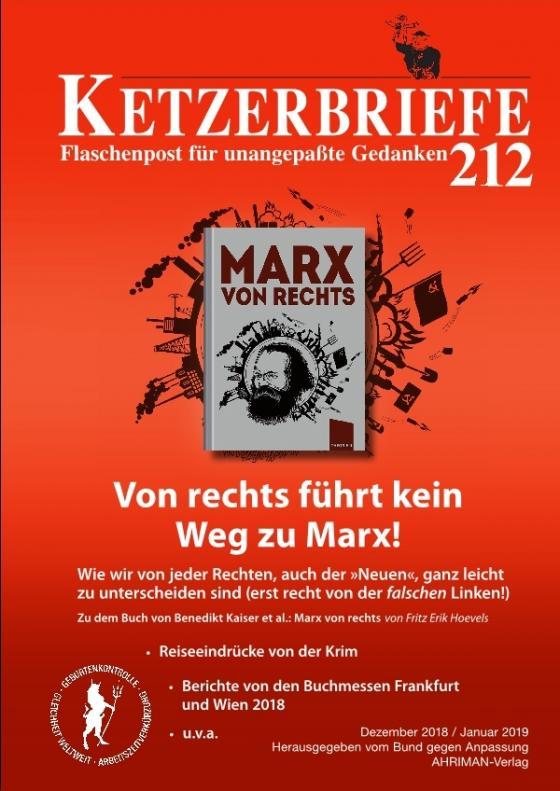 Cover-Bild Von rechts führt kein Weg zu Marx!