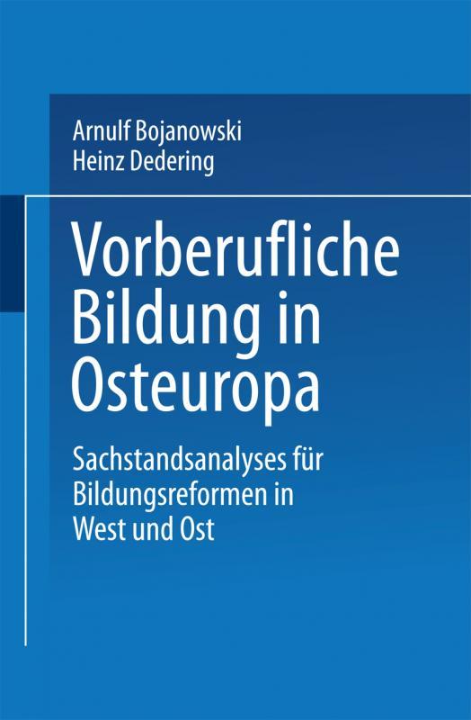 Cover-Bild Vorberufliche Bildung in Osteuropa