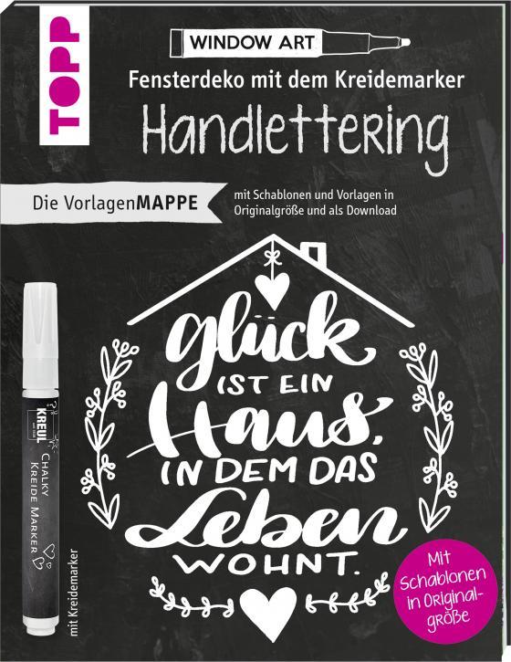 Cover-Bild Vorlagenmappe Fensterdeko mit dem Kreidemarker - Handlettering. Inkl. Original Kreidemarker von Kreul und Schablonen