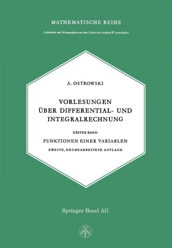 Cover-Bild Vorlesungen über Differential- und Integralrechnung