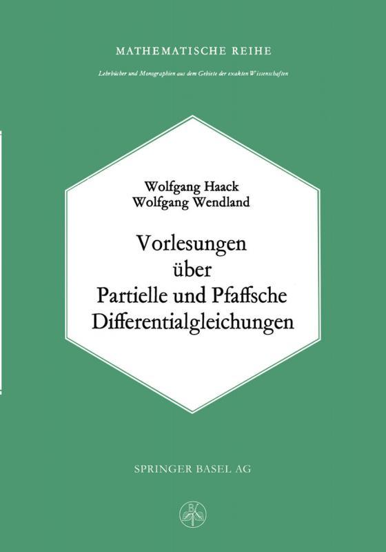 Cover-Bild Vorlesungen über Partielle und Pfaffsche Differentialgleichungen