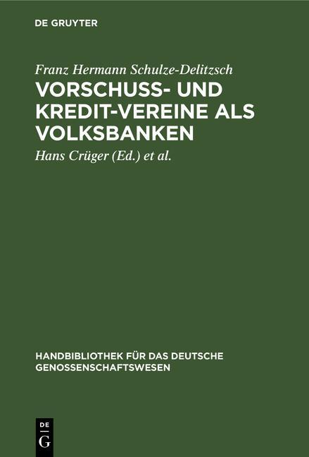 Cover-Bild Vorschuss- und Kredit-Vereine als Volksbanken