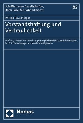 Cover-Bild Vorstandshaftung und Vertraulichkeit