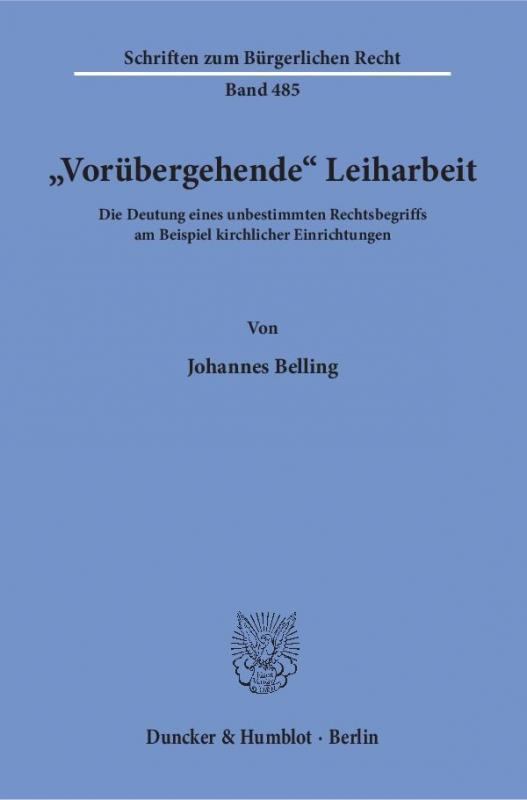 Cover-Bild »Vorübergehende« Leiharbeit.
