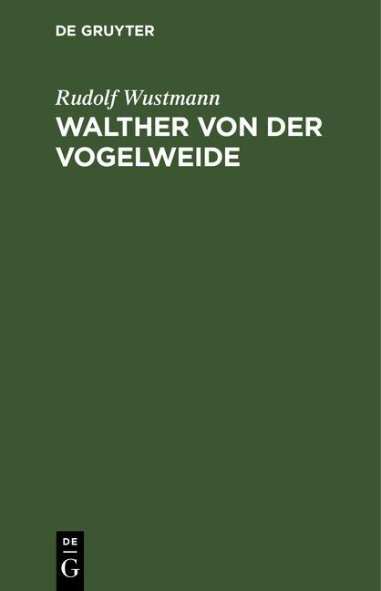 Cover-Bild Walther von der Vogelweide