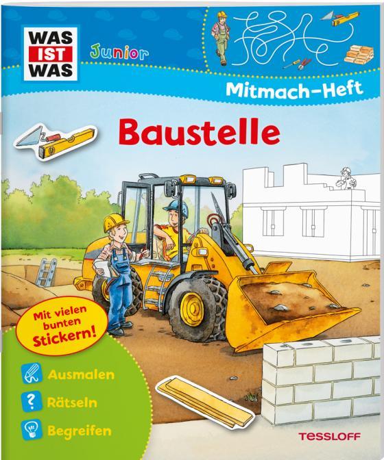 Cover-Bild WAS IST WAS Junior Mitmach-Heft Baustelle