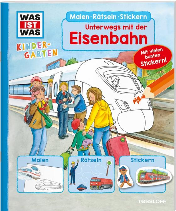 Cover-Bild WAS IST WAS Kindergarten. Unterwegs mit der Eisenbahn