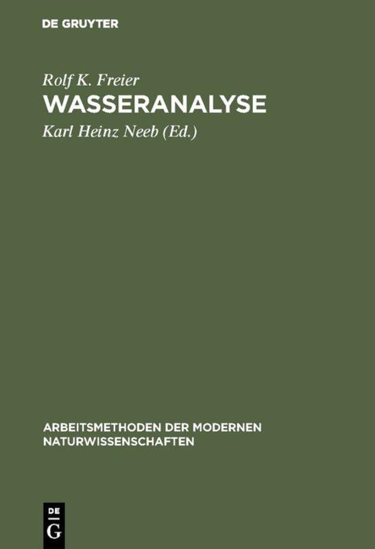 Cover-Bild Wasseranalyse
