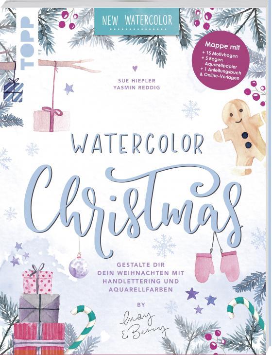 Cover-Bild Watercolor Christmas. Gestalte dir dein Weihnachten mit Handlettering und Aquarellfarben by May and Berry