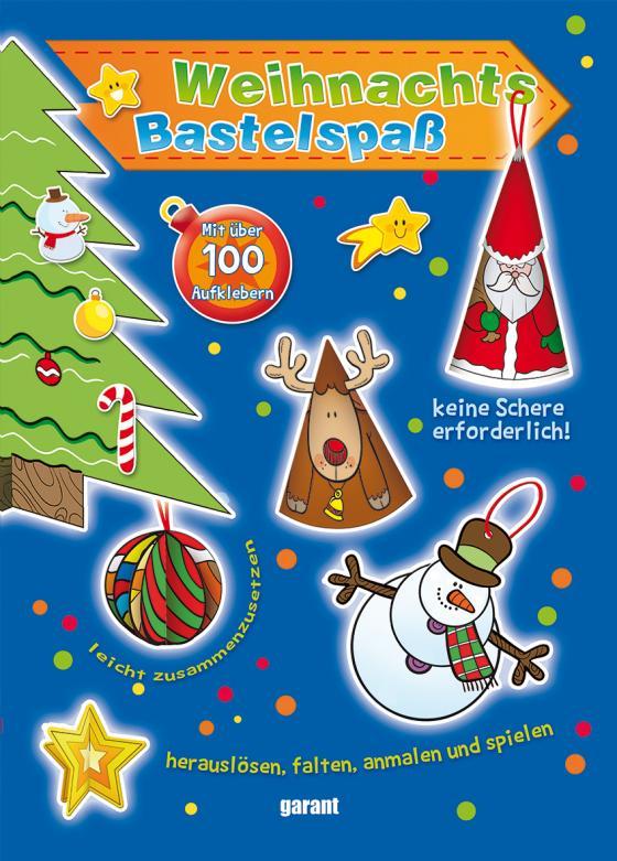 Cover-Bild Weihnachts-Bastelspaß blau