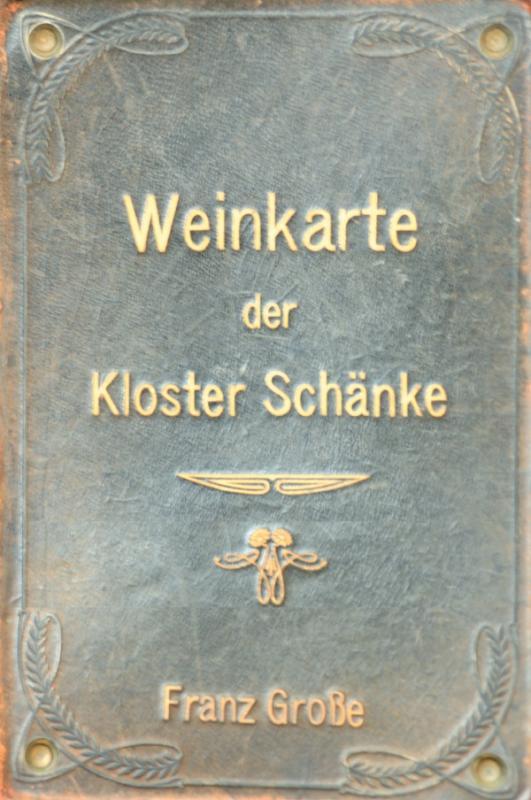 Cover-Bild Weinkarte der Kloster Schänke