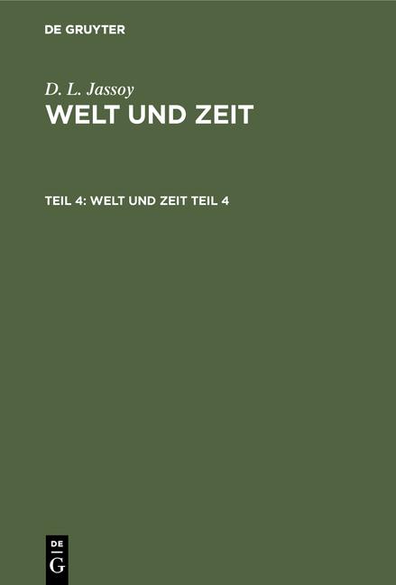 Cover-Bild Welt und Zeit / Welt und Zeit. Teil 4