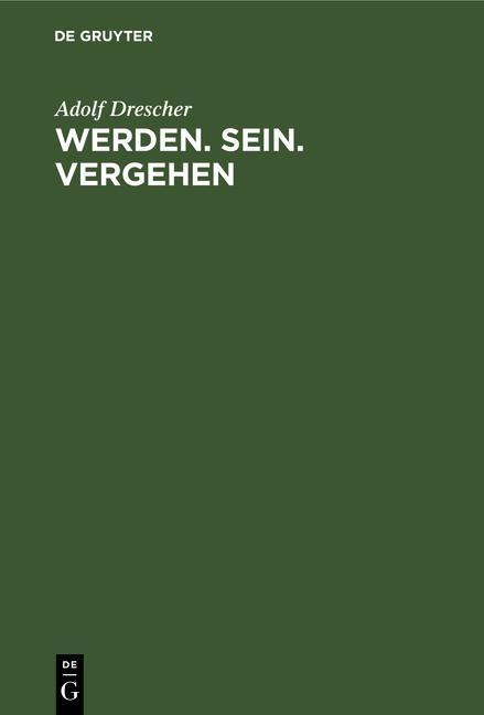 Cover-Bild Werden. Sein. Vergehen