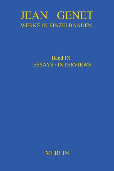 Cover-Bild Werkausgabe / Werke in Einzelbänden - Essays & Interviews