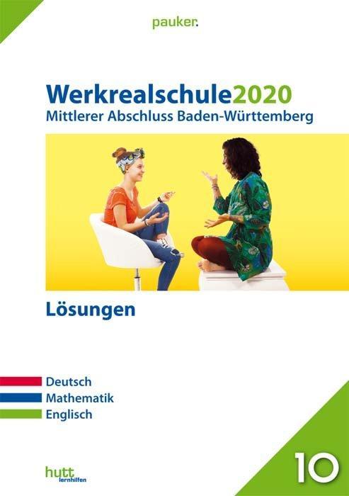Cover-Bild Werkrealschule 2020 - Mittlerer Abschluss Baden-Württemberg Lösungen