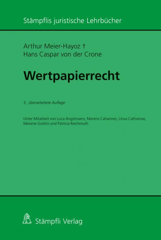 Cover-Bild Wertpapierrecht