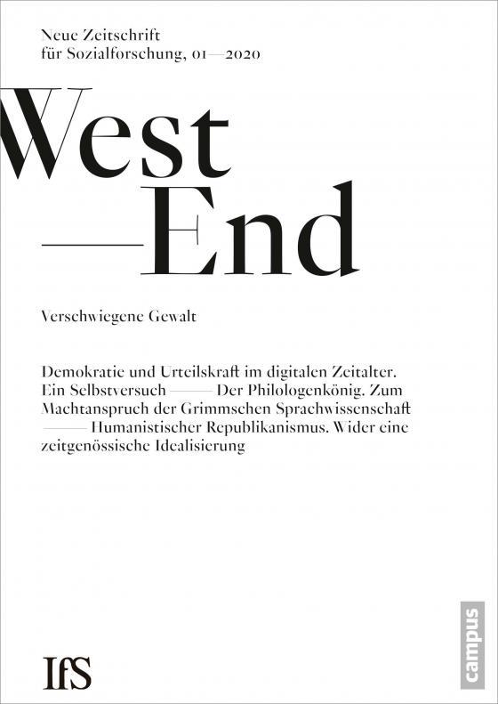 Cover-Bild WestEnd 1/2020: Verschwiegene Gewalt