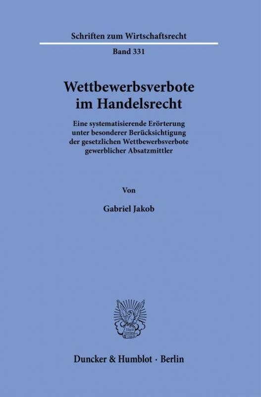 Cover-Bild Wettbewerbsverbote im Handelsrecht.