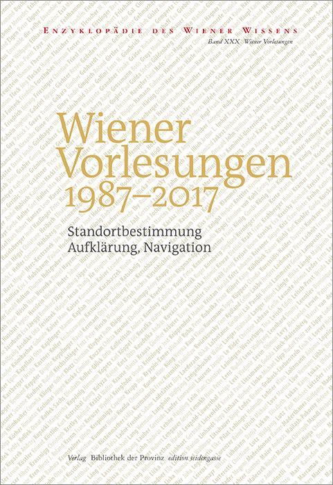 Cover-Bild Wiener Vorlesungen 1987–2017