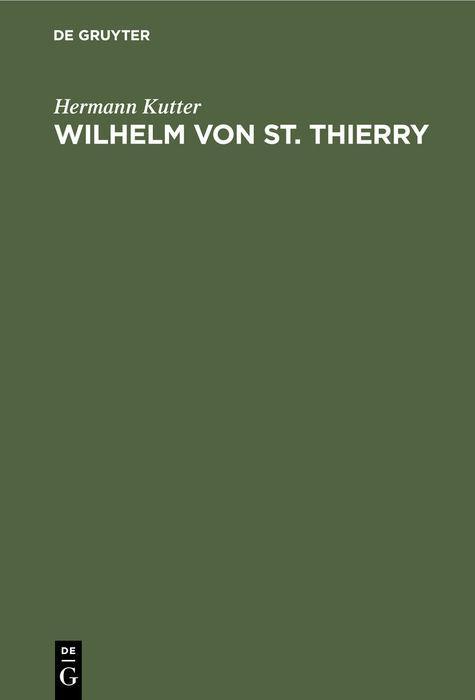 Cover-Bild Wilhelm von St. Thierry