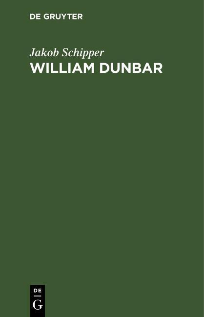 Cover-Bild William Dunbar
