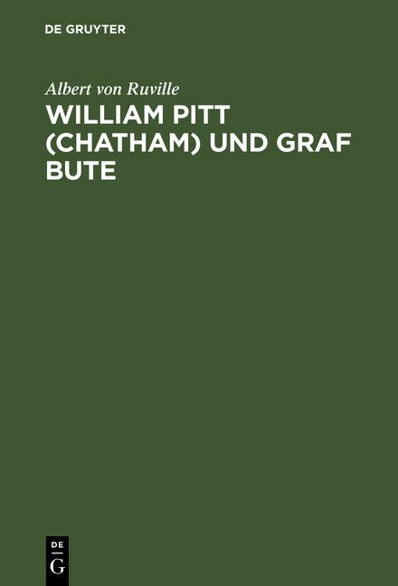 Cover-Bild William Pitt (Chatham) und Graf Bute