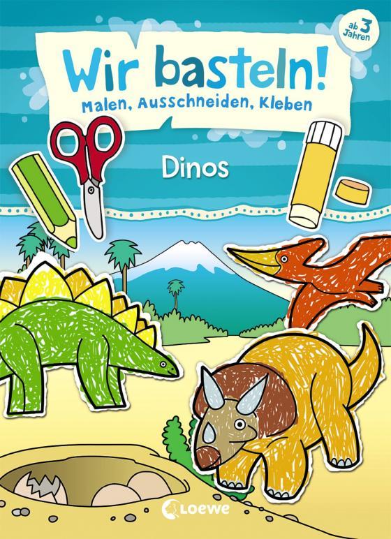 Cover-Bild Wir basteln! - Malen, Ausschneiden, Kleben - Dinos