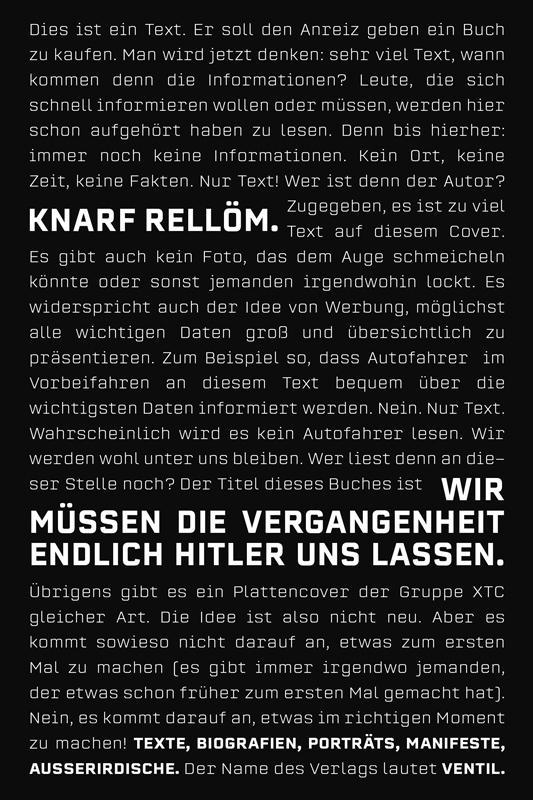 Cover-Bild Wir müssen die Vergangenheit endlich Hitler uns lassen