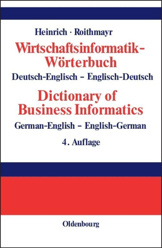 Cover-Bild Wirtschaftsinformatik-Wörterbuch - Dictionary of Economic Informatics