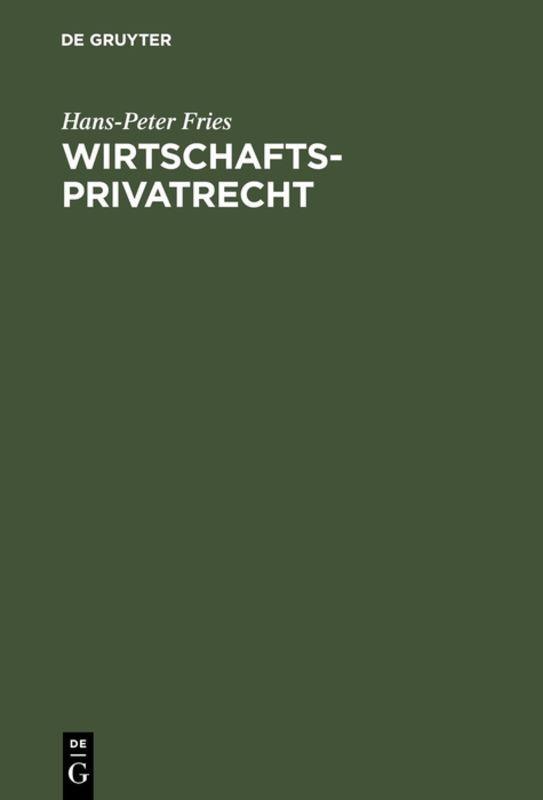 Cover-Bild Wirtschaftsprivatrecht