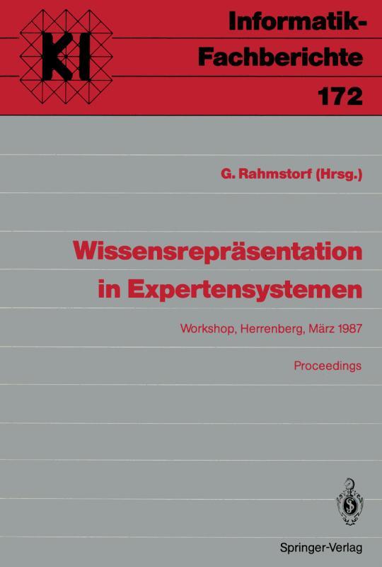 Cover-Bild Wissensrepräsentation in Expertensystemen