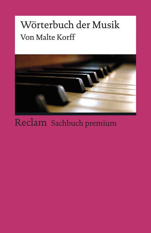 Cover-Bild Wörterbuch der Musik