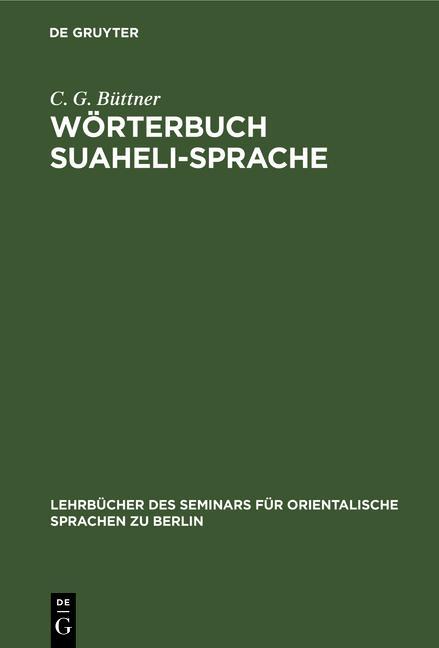 Cover-Bild Wörterbuch Suaheli-Sprache
