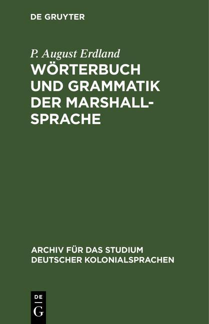 Cover-Bild Wörterbuch und Grammatik der Marshall-Sprache