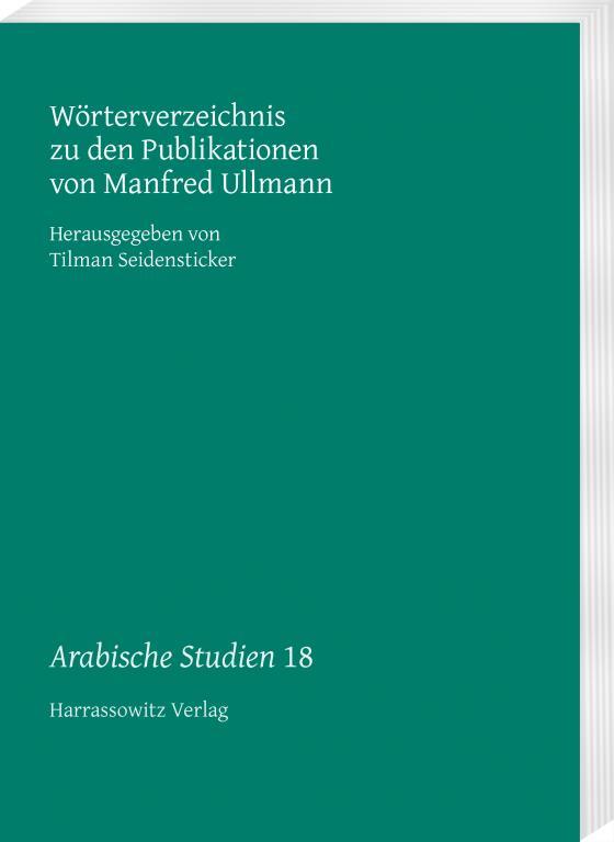 Cover-Bild Wörterverzeichnis zu den Publikationen von Manfred Ullmann