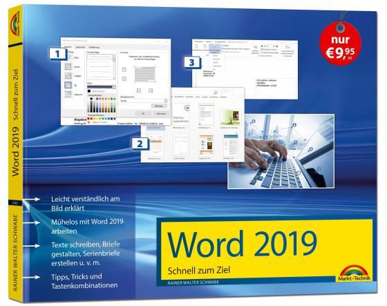 Cover-Bild Word 2019 Schnell zum Ziel. Alles auf einen Blick - Word 2019 optimal nuten. Komplett in Farbe. Für Einstiger und Umsteiger im praktischen Querformat
