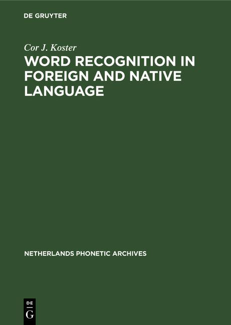 Cover-Bild Word recognition in foreign and native language