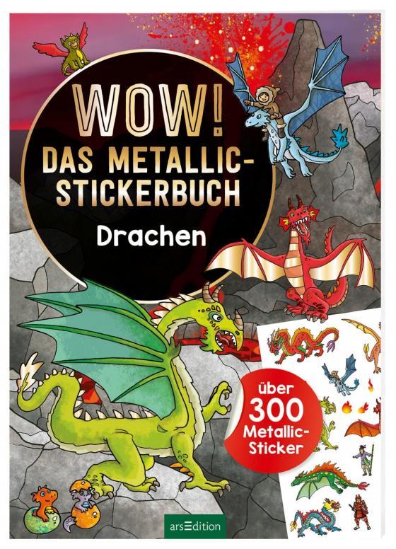 Cover-Bild Wow! Das Metallic-Stickerbuch - Drachen