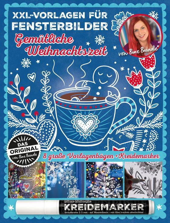 Cover-Bild XXL Vorlagen für Fensterbilder, Gemütliche Weihnachtszeit von Bine Brändle, Das Orginal