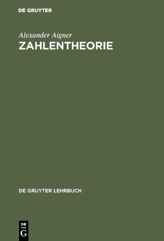 Cover-Bild Zahlentheorie