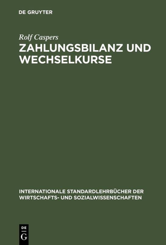 Cover-Bild Zahlungsbilanz und Wechselkurse