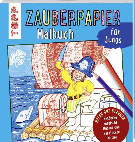 Cover-Bild Zauberpapier Malbuch für Jungs