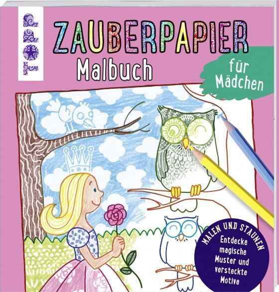 Cover-Bild Zauberpapier Malbuch für Mädchen