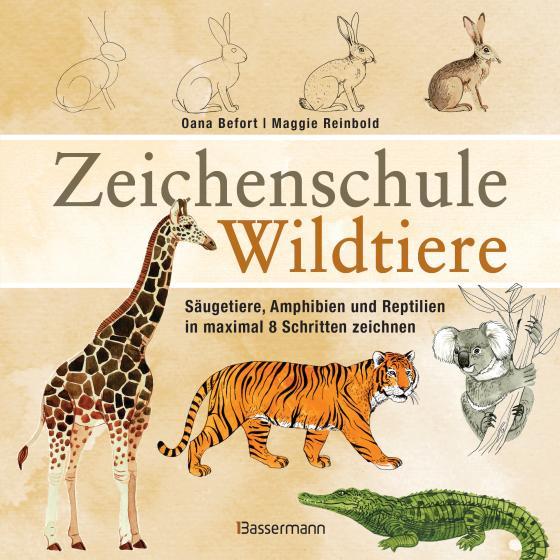 Cover-Bild Zeichenschule Wildtiere
